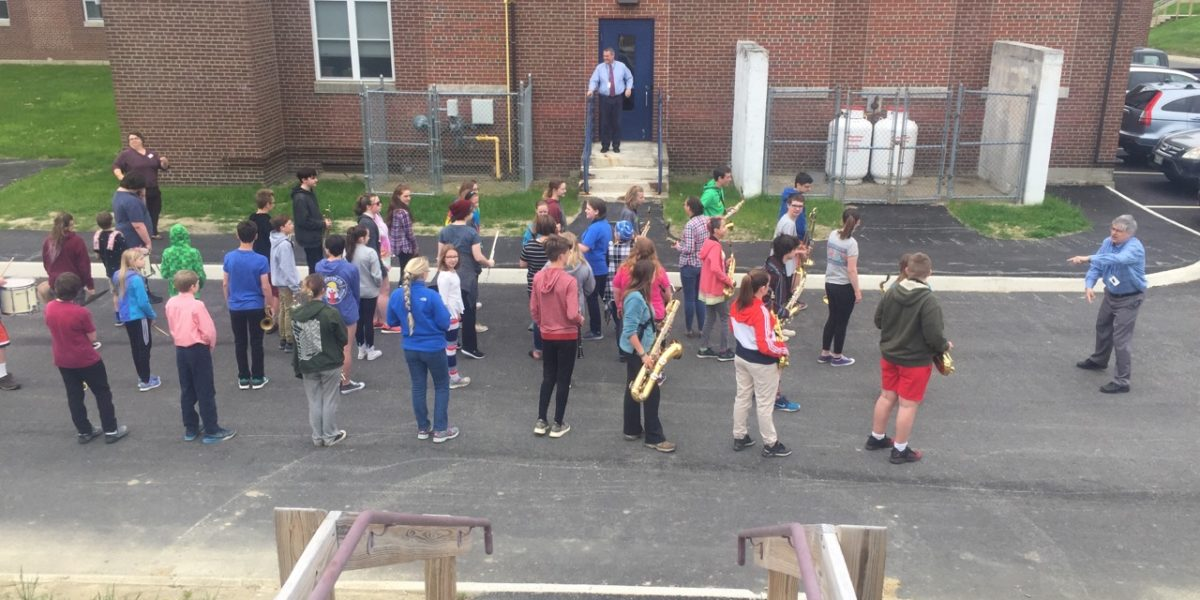 The Band Marches toward Memorial Day